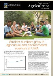 Agriculture - The University of Western Australia