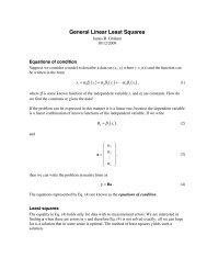 General linear least squares - UGAstro