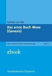 Das erste Buch Mose (Genesis)