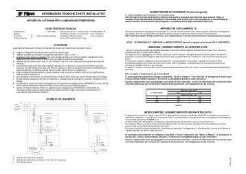 Istruzioni di montaggio emergenza - 3F Filippi S.p.a.