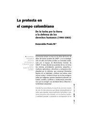 La protesta en el campo colombiano. De la lucha por la tierra a la ...
