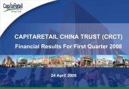 Presentation - CapitaRetail China Trust