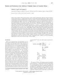 Kinetics and Mechanism of the Addition of Aliphatic Amines to ...
