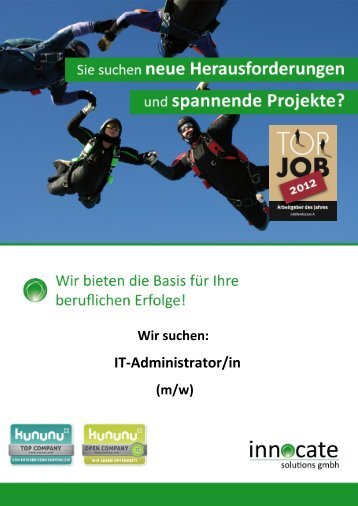 IT-Administrator/in - innocate solutions gmbh