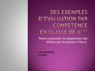 Des exemples d'évaluation par compétence en classe de 6ème