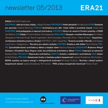 newsletter 05/2013 - Era21