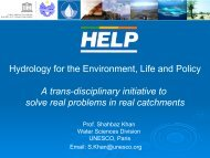Hydrology for the Environment, Life and Policy - inweb