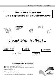 Programme mercredis sept, oct 2009 - Chatel Guyon