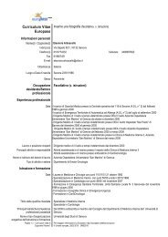 Curriculum Vitae Europass - Comune di Savona