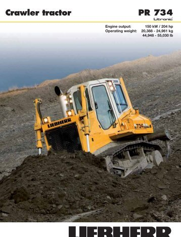 PR 734 Crawler tractor