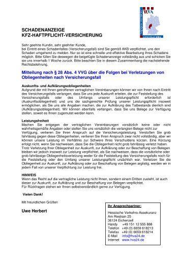 schadenanzeige - kfz-haftpflicht-versicherung - HVA24.de