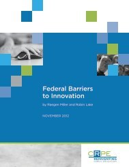 Federal Barriers to Innovation - ERIC - U.S. Department of Education