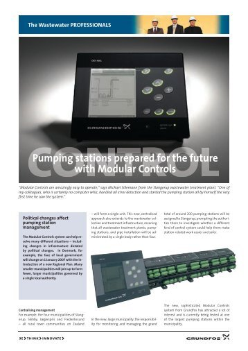 Pumping stations prepared for the future with Modular Controls