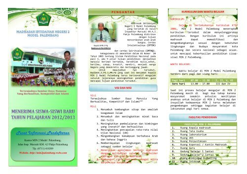 Penerimaan Siswa Baru MIN 2 Palembang - Kemenag Sumsel