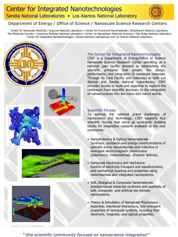 Fact Sheet - Center for Integrated Nanotechnologies - Los Alamos ...
