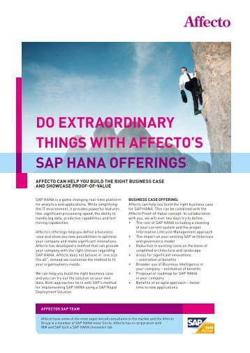 do eXtraordinary things with affeCto's sap hana offerings