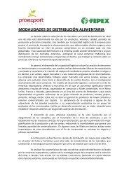 MODALIDADES DE DISTRIBUCIÓN ALIMENTARIA - Proexport