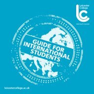 Download our International Guide for Students - Leicester College