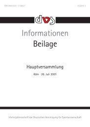 Unterlagen zur Hauptversammlung, Köln, 26. Juli 2001 - dvs