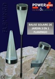 BALISE SOLAIRE DE JARDIN 3 EN 1 FLAMINGO - Eqwergy