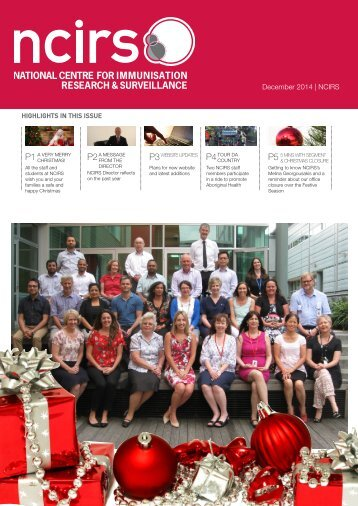December 2014 NCIRS Newsletter-