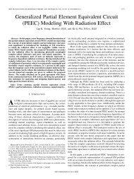 Generalized Partial Element Equivalent Circuit (PEEC) - Electronic ...