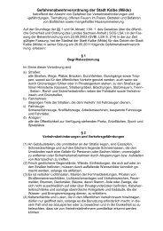 Gefahrenabwehrverordnung 2011 - Kalbe (Milde)