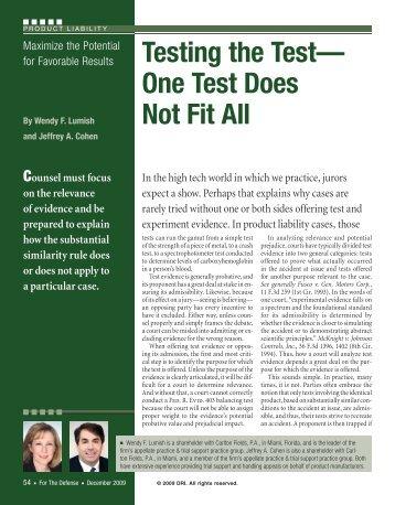 Testing the Test - DRI Today