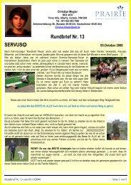 Rundbrief Nr. 13 SERVUS - ANKER Sulzdorf