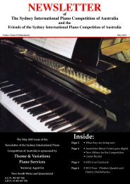 May 2013 Newsletter - The Sydney International Piano Competition ...