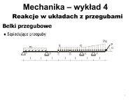 Mechanika – wykład 3