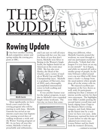 Rowing Update - Union Boat Club