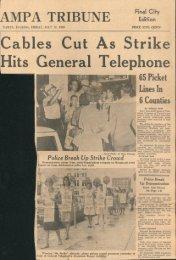 Tampa Strike News Articles