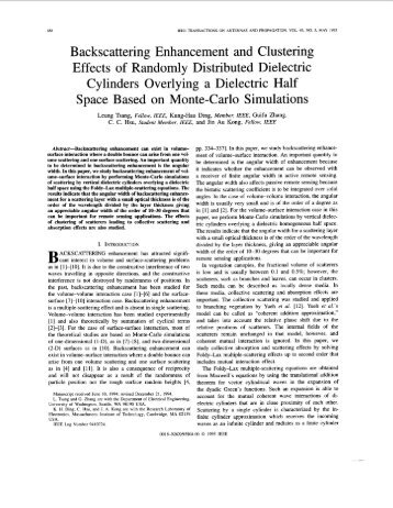 Backscattering enhancement and clustering effects of ... - IEEE Xplore