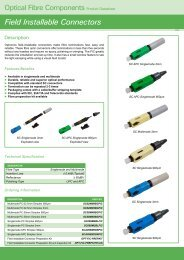 Field Installable Connectors - Gfo Europe S.p.A.