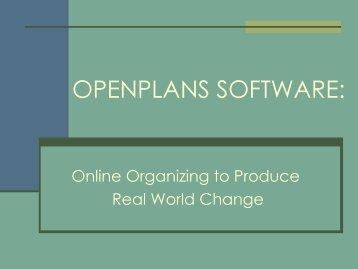 Open Sourcing Activism - Plone