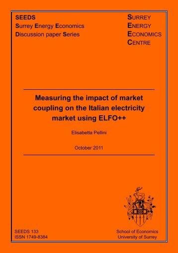 Measuring the impact of market coupling on the - SEEC - University ...