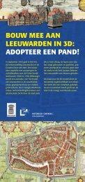 flyer met aanmeldingskaart - Historisch Centrum Leeuwarden