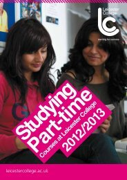 Download our Part-time Course Guide - Leicester College