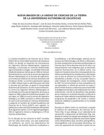 NUEVA IMAGEN DE LA UNIDAD DE CIENCIAS DE LA ... - UGM