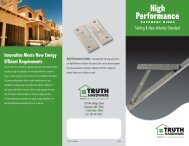 High Performance Casement Hinge - Truth Hardware