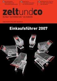 Einkaufsführer 2007 - zelt und co