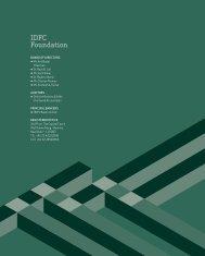 IdfC foundation