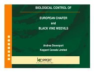 BIOLOGICAL CONTROL OF EUROPEAN CHAFER and BLACK ...
