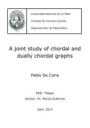A joint study of chordal and dually chordal graphs - Departamento ...