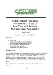 Call for Project Proposals in the research areas of Real Time and ...
