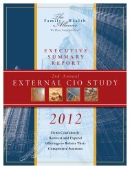 external cio study - The Alliance Report