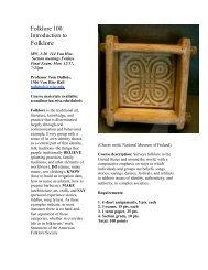 Folklore - Department of Scandinavian Studies