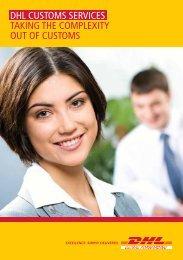 DHL Customs Services Flyer
