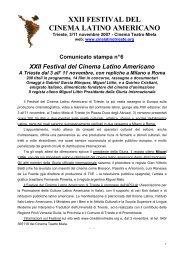 Comunicato di presentazione.pdf - Festival del Cinema Latino ...
